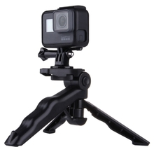 PULUZ Grip Folding Tripod Mount with Adapter & Screws for GoPro HERO5 /4 /3+ /3 /2 /1, SJ4000, Digital Cameras