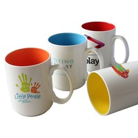 15 oz. Glossy Two-Tone Custom Printed Photo Mugs,custom big large mugs