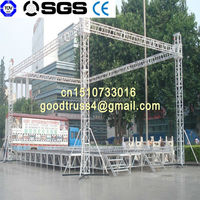 Aluminum light truss stand for exhibition moving truss system