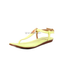 hot selling Summer new design Women Bohemia Flower Beads Flip-flop Shoes Flat Sandals