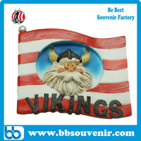 custom viking fridge magnet resin magnet souvenir