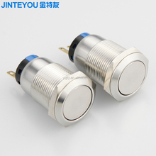 19mm electrical stainless steel metal push button switch