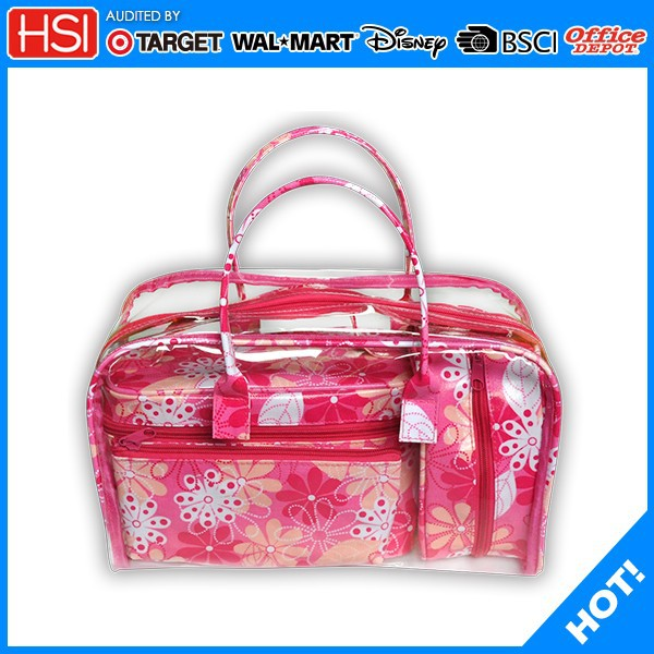 waterproof pvc makeup set bag color benefit makeup bag with holder