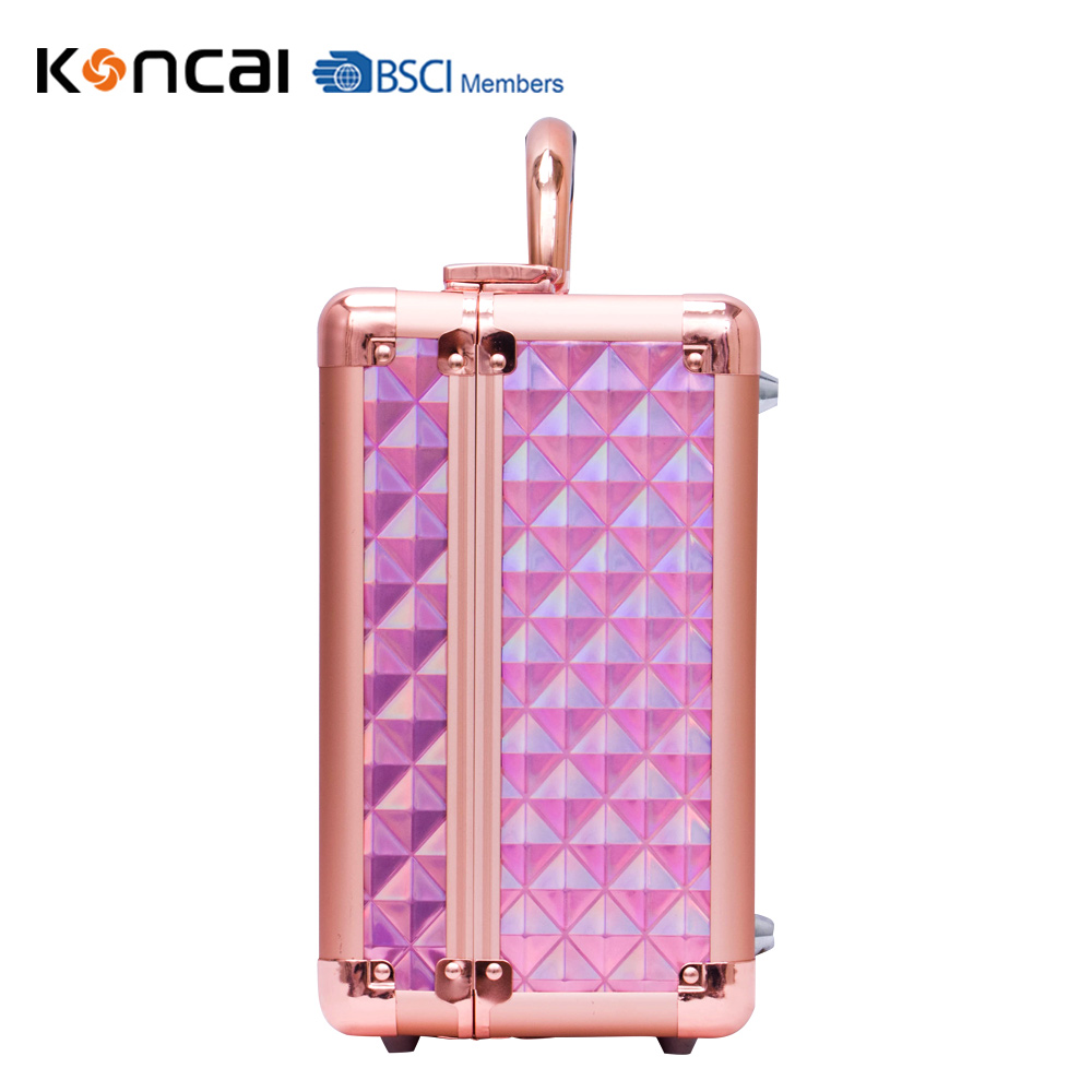 KONCAI Best Selling Makeup Case with Lights Vanity Case with Mirror and LED Beauty Box