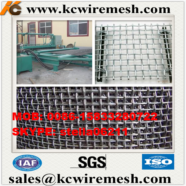 Factory!!!! KangChen plain woven ss 304 stainless steel crimped wire mesh with 25mm hole