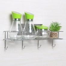 Unique Wall mounted Shelf Stainless Steel 1 Layer Spice Rack