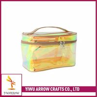 New products attractive style reusable essential oil wholesale canvas cosmetic bag