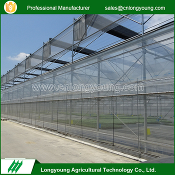 Professional irrigation system glass greenhouses for agriculture price