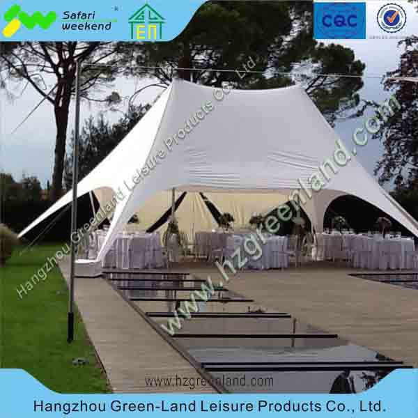 double peaks tent, star shade for event, aluminum double star gazebo for event