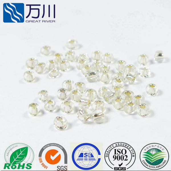 Sliver Line quality loose artificial glass pearls bead for jewelry making