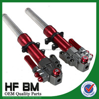 Red Motorcycle Pair Air Shocks Absorber/Modified Scooter Front Shock Absorb
