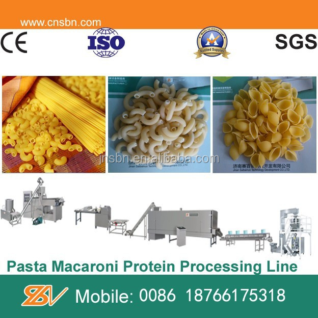 Automatic commercial pasta making machine processing plant