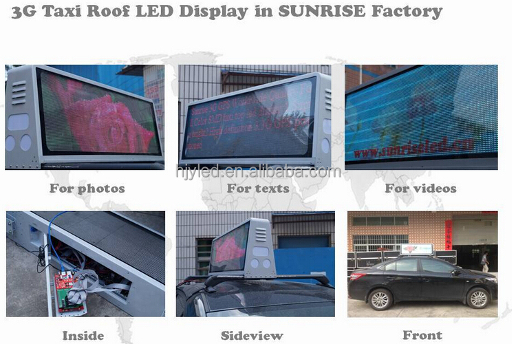 P5 high brightness taxi led sign/taxi roof led screen/taxi top led display