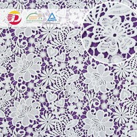 wholesale cheap 100 poly guipure cutwork embroidery dry lace fabric