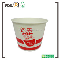 85oz custom print fried chicken bucket take out container