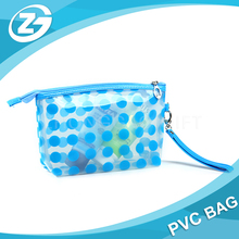 Coloured Transparent Promotional Gifts Waterproof Ziplock PVC Cosmetic Pouch