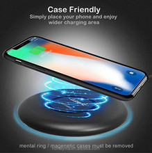 Qi Fast Wireless Charging 7W 10W Waterproof Fast Wireless Charger for Apple iPhone iPhone X 8 8 Plus, for Samsung Galaxy S9 S8