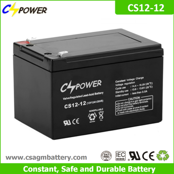 Cspower agm 12V 12Ah rechargeable ups battery for Power tools