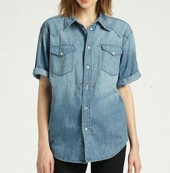 Professional Factory Supply Top Quality garment wash denim shirt 2015