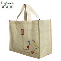 Hot Recycled Jute Pouch Shopping Tote Bag, Customized Organic Fabric Jute Handbag, Wholesale Fashionable Natural Jute Gift Bag