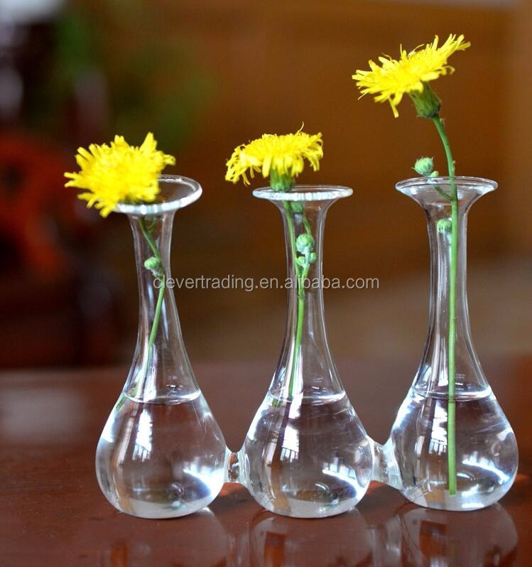 Hand Blown Clear Small Glass Vasetall Glass Cylinder Vase Suppliers