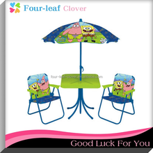 2015 Hot Sale Garden Cartoon Children Kids Table And Chairs With Umbrella / Folding Tables And Chairs Set