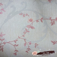 European Classical Style Flocking Vertical Line Non-woven Wallpaper