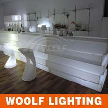 mobile illuminated led wedding bar counter