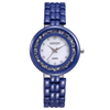 High quality women's rolling stones butterfly clasp blue ceramic watch