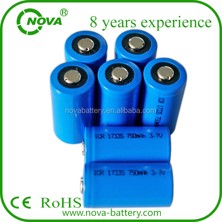 icr 17335 li-ion battery icr17335 3.7v rechargeable battery
