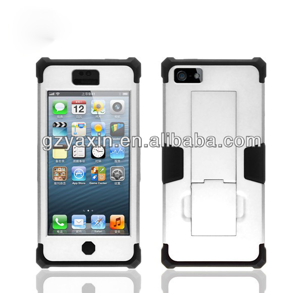 3 in 1 robot shock proof protective cover case for iphone 5,waterproof cases for iphone 5
