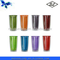 colorful 16oz plastic double wall advertising tumbler