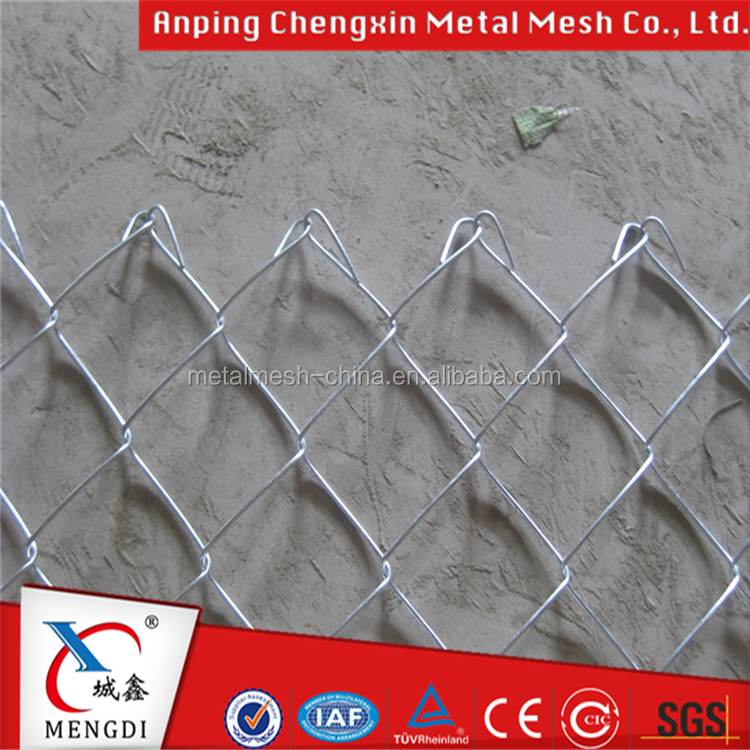 Zinc Coated Steel Chain Link Fence Fabric