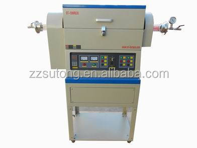 1200C Electric tilting Rotary tube furnace for sintering powder materials test