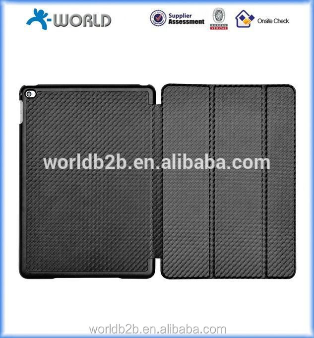 carbon fiber fabric leather case For iPad Air 2