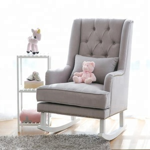 Classic Upholstery Nercy chair New Design Wood Single Seat Swing Chair Butterfly Rocking Chair