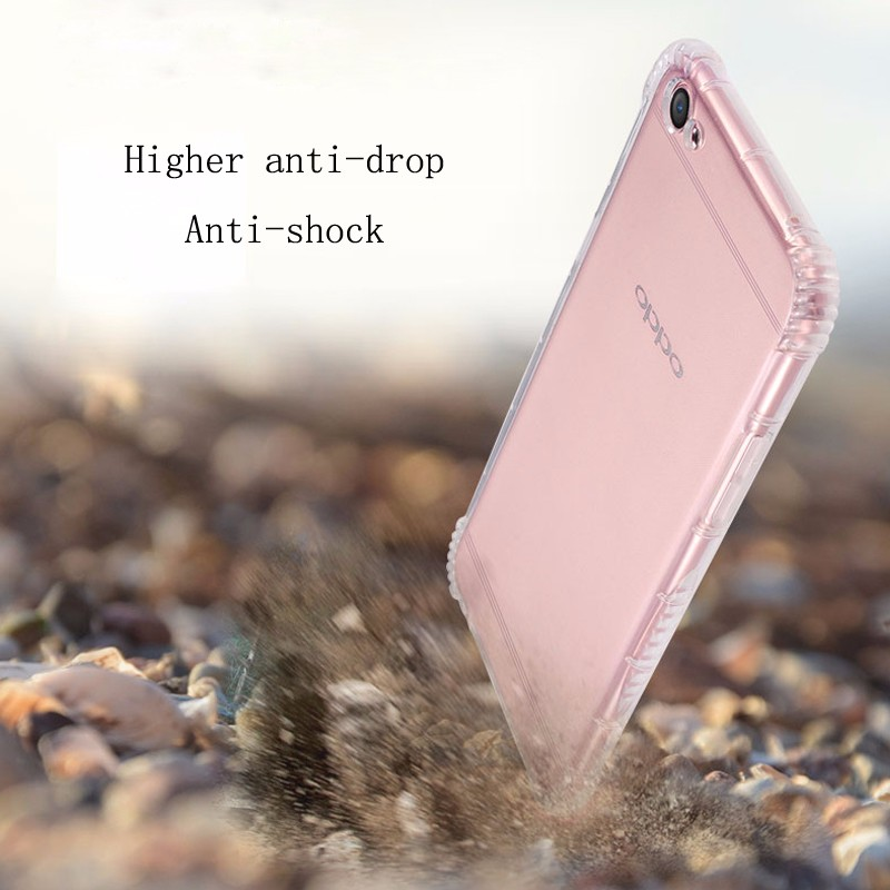 Hot selling brand name phone case Clear Transparent TPU fashion phone covers for oppo