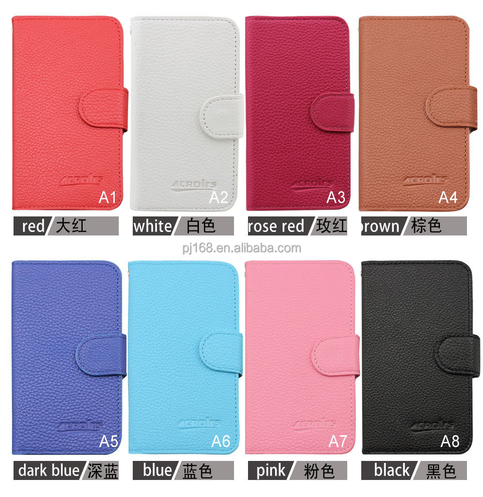 Wholesale Hot Sale Lychee Grain Wallet Pouch Flip Leather Cover Case for BlackBerry <strong>Q10</strong>