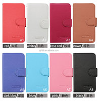 Wholesale Hot Sale Lychee Grain Wallet Pouch Flip Leather Cover Case for BlackBerry Q10