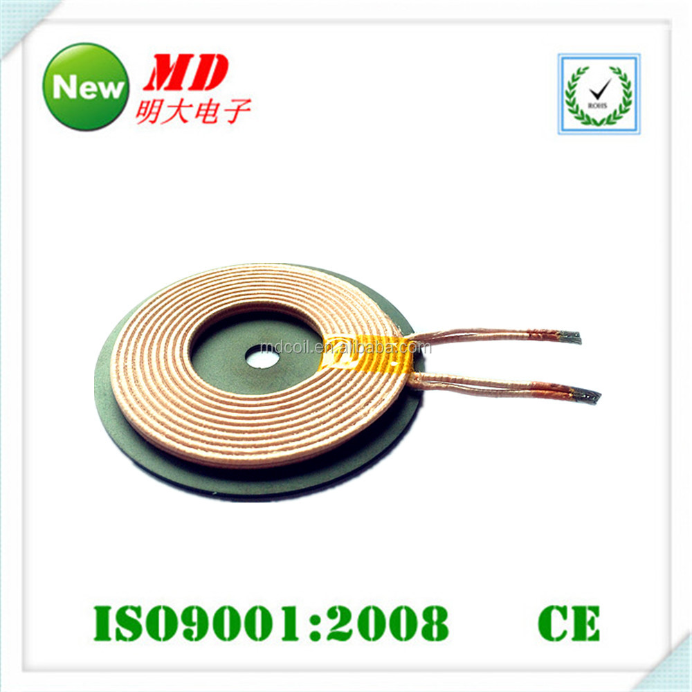 2016 hot sell qi wireless charger receiver/air charging coil /power inductor coil inductor
