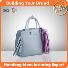 4019- Newest high fashion genuine leather elegant ladies handbag hot sale