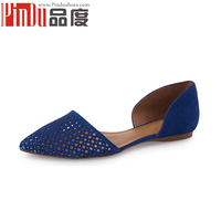 New Arrivals Women Lady Girls Flat Suede Leather Pumps Ballerina Slip On Casual Shoes D'orsay flats