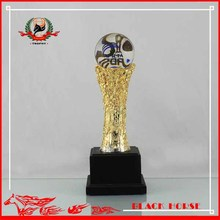 Crystal earth metal trophy luxury prizes from corporate souvenirs