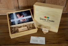 Wedding Memory Wooden USB Drive Gift Box With Photo