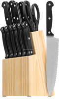 KG-N1003 Traditions 14-Piece Knife Set with Block, Natural