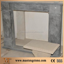 luxury indoor marble freestanding fireplace mantel shelf