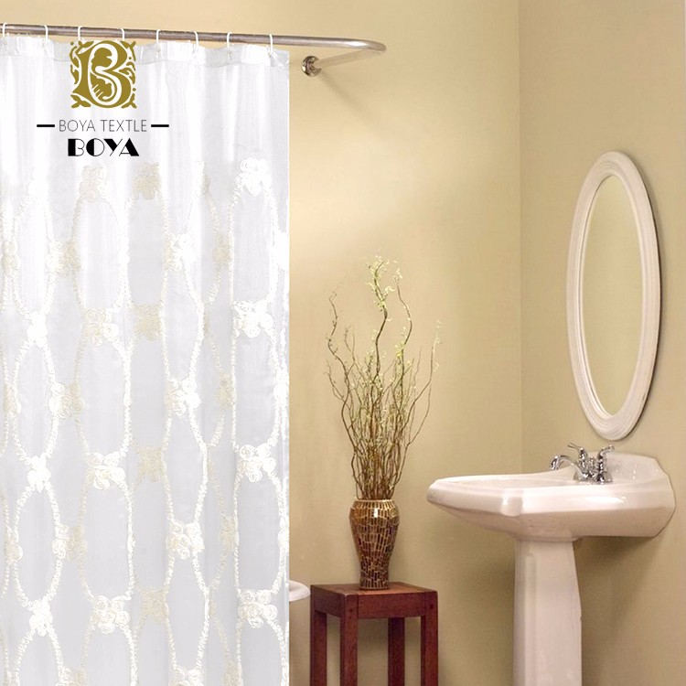 Logo Printed Fabric Shower Curtain