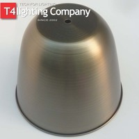 Top end stainless spinning round metal lamp shade