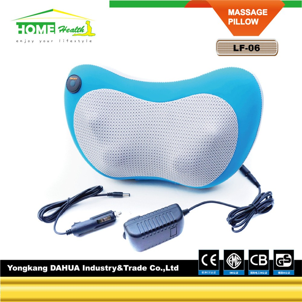 2017 Hot Sell New Upgrade PU Portable Home Kneading Electric Car Head Shoulder Back Body Neck Kneading Shiatsu Massage Pillow