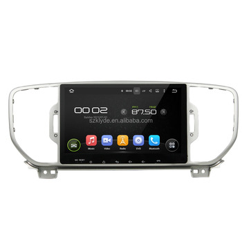 "Great Bluetooth excellent sound car radio support DAB+ and WAZE map android 5.1.1 for 9"" SPORTAGE 2016"
